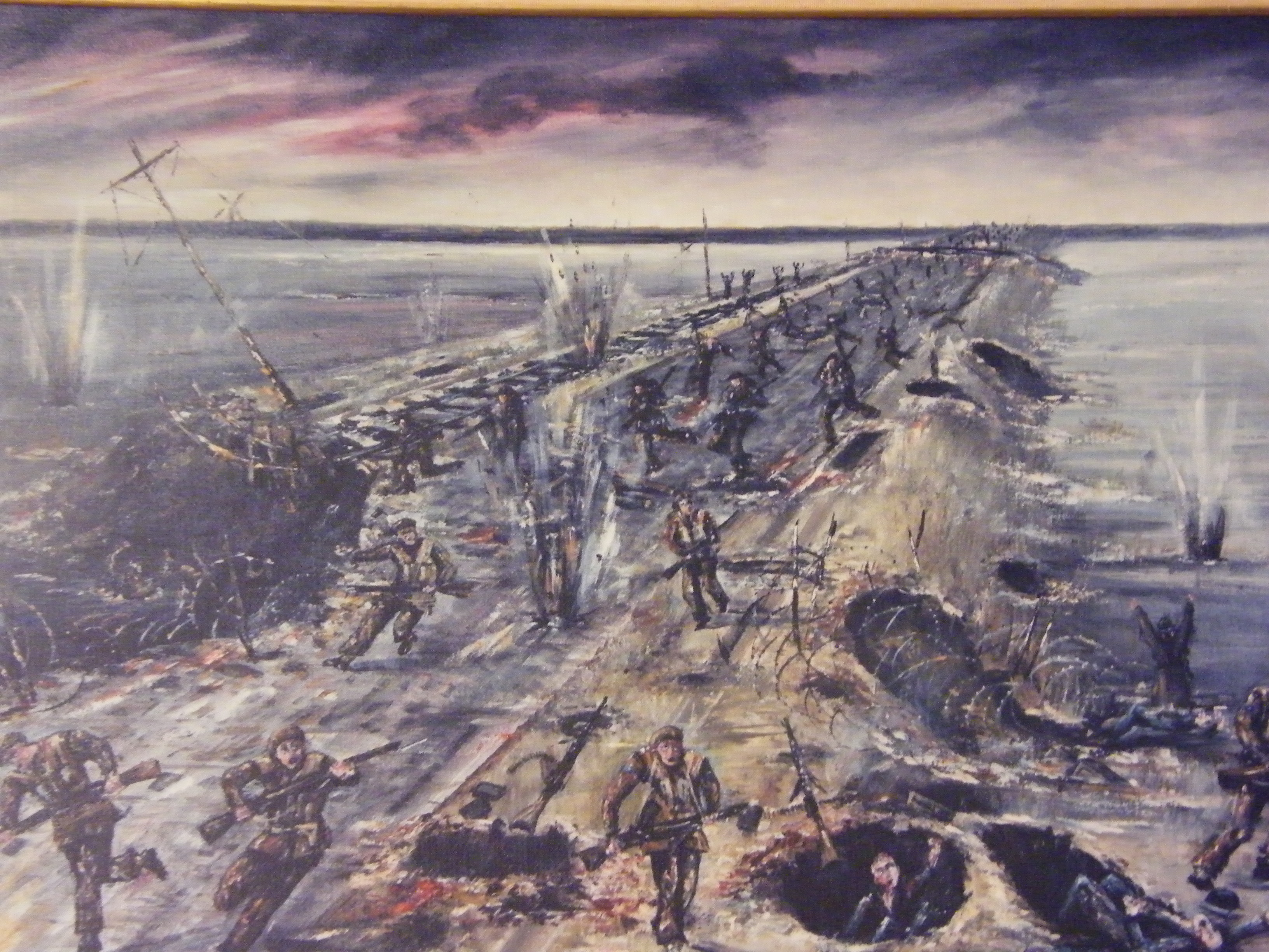 The assault on the Walcheren Causeway